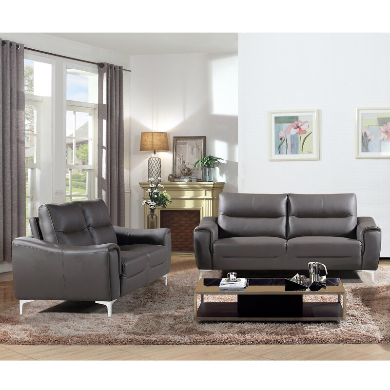 Orren Ellis Malissa Modern 2 Piece Living Room Set | Wayfair