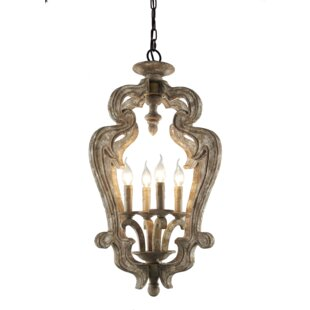 Coupon Bevis 4-Light Lantern Pendant By Ophelia & Co.