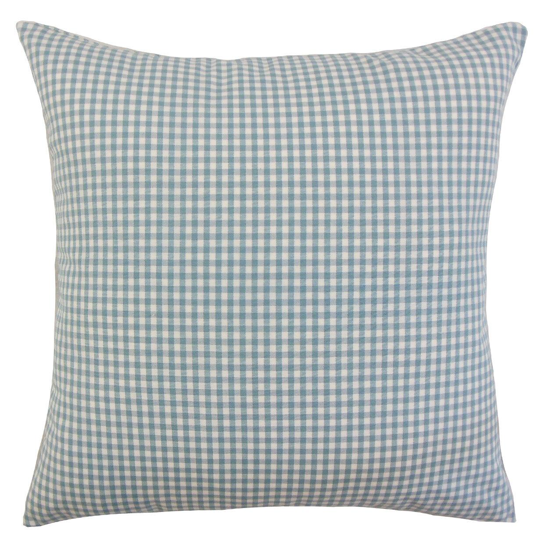 August Grove Noreen Plaid Floor Pillow Wayfair