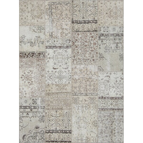 Bloomsbury Market Catharine Patchwork Hand Knotted Wool Cotton Cream Area Rug Wayfair
