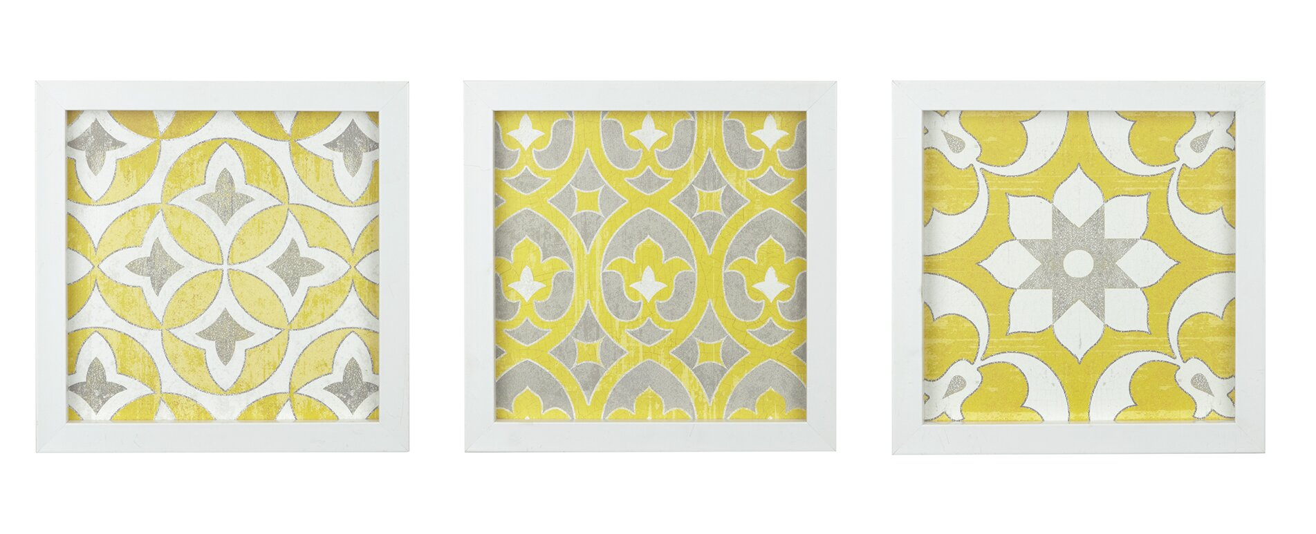 Tuscan Tiles 3 Piece Framed Graphic Art Print Set on Wood & Reviews ...