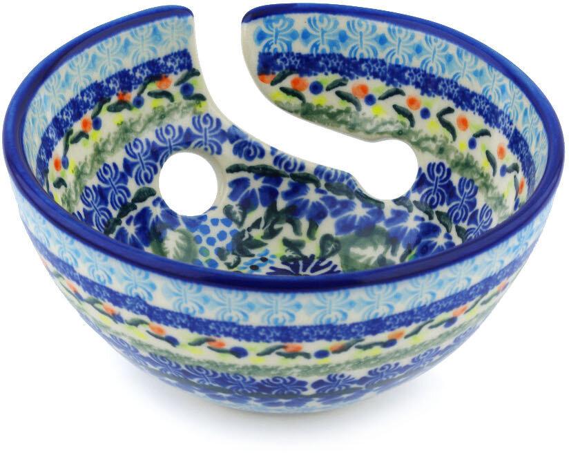 Polmedia Flor De Lis Polish Pottery Yarn Decorative Bowl Wayfair