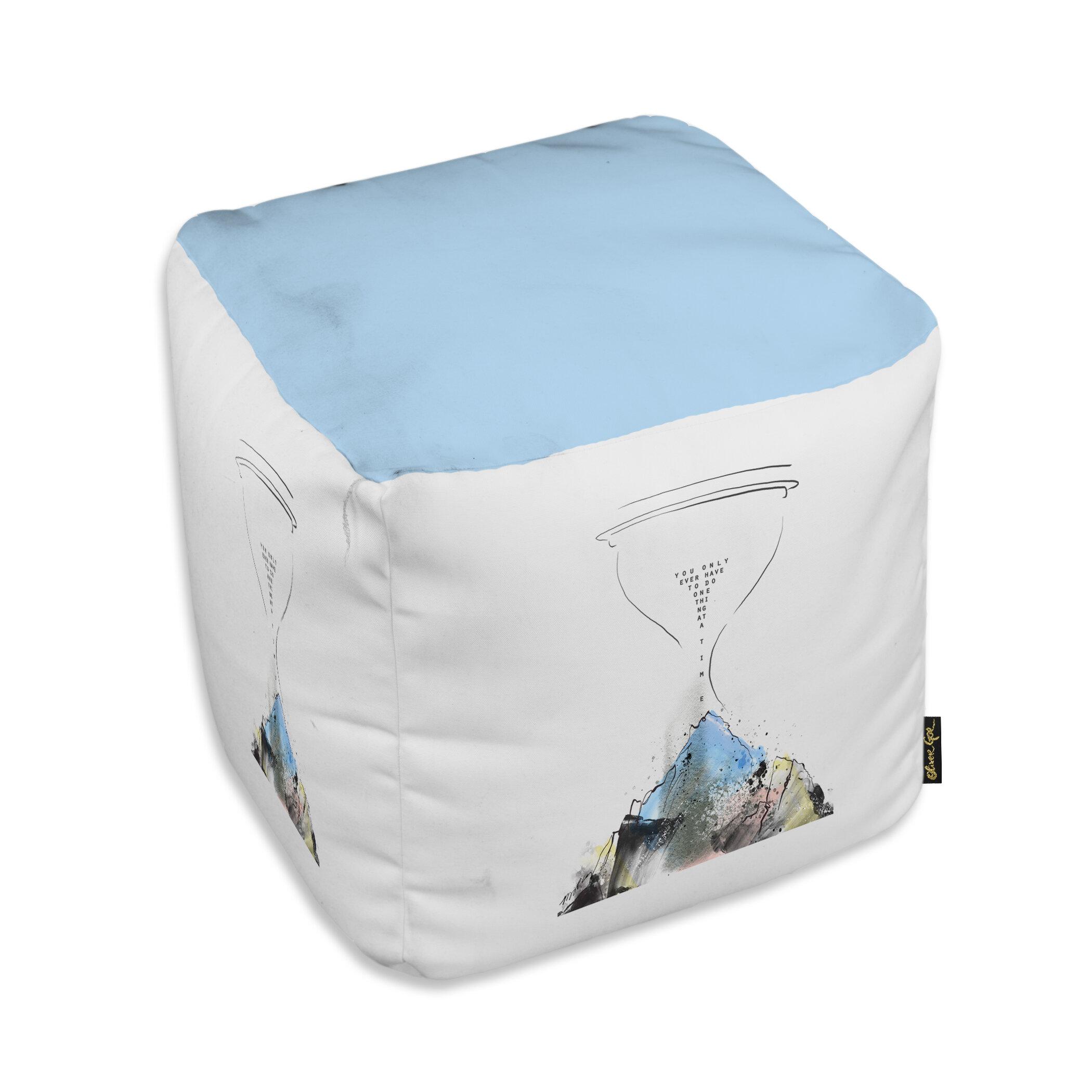 Ebern Designs Addison Mountain Cube Ottoman Wayfair