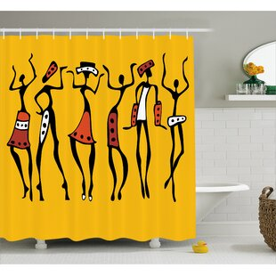 Find the perfect Avia Sketchy Ethnic Dancer Shower Curtain ByBloomsbury Market