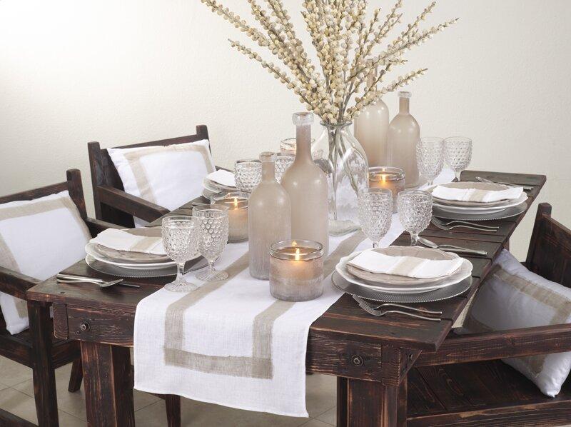 Chaisson Banded Design Table Runner