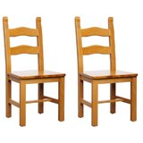 Berto Solid Wood Ladder Back Side Chair in Cherry (Set of 2) by Benkel Seating