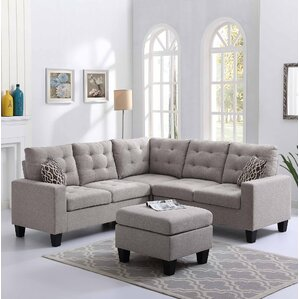 sectional small living room. Pawnee Sectional with Ottoman Small Sofas You ll Love  Wayfair