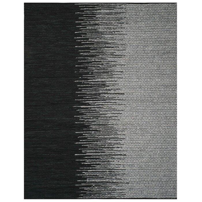 Swayze Handwoven Light Grey Black Area Rug