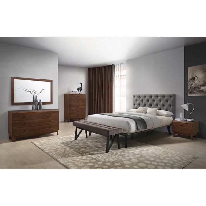 Cottone Modern Platform 4 Piece Bedroom Set