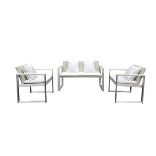 Leal 4 Piece Rattan Sofa Seating Group with Cushions
