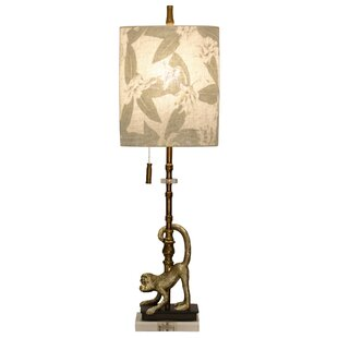 Tropical monkey lamps wayfair cerie monkey motif 43 table lamp mozeypictures