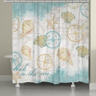 Look to the Sea Single Shower Curtain