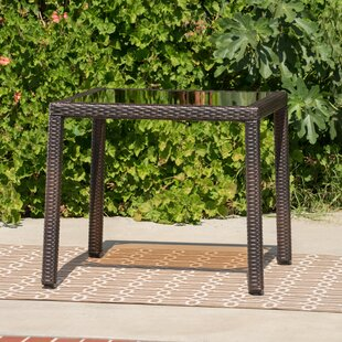Rosenda Outdoor Iron Side Table by Highland Dunes Great Reviews