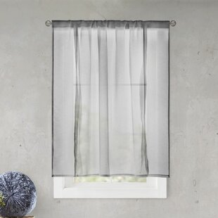 Gray Tie Up Curtains