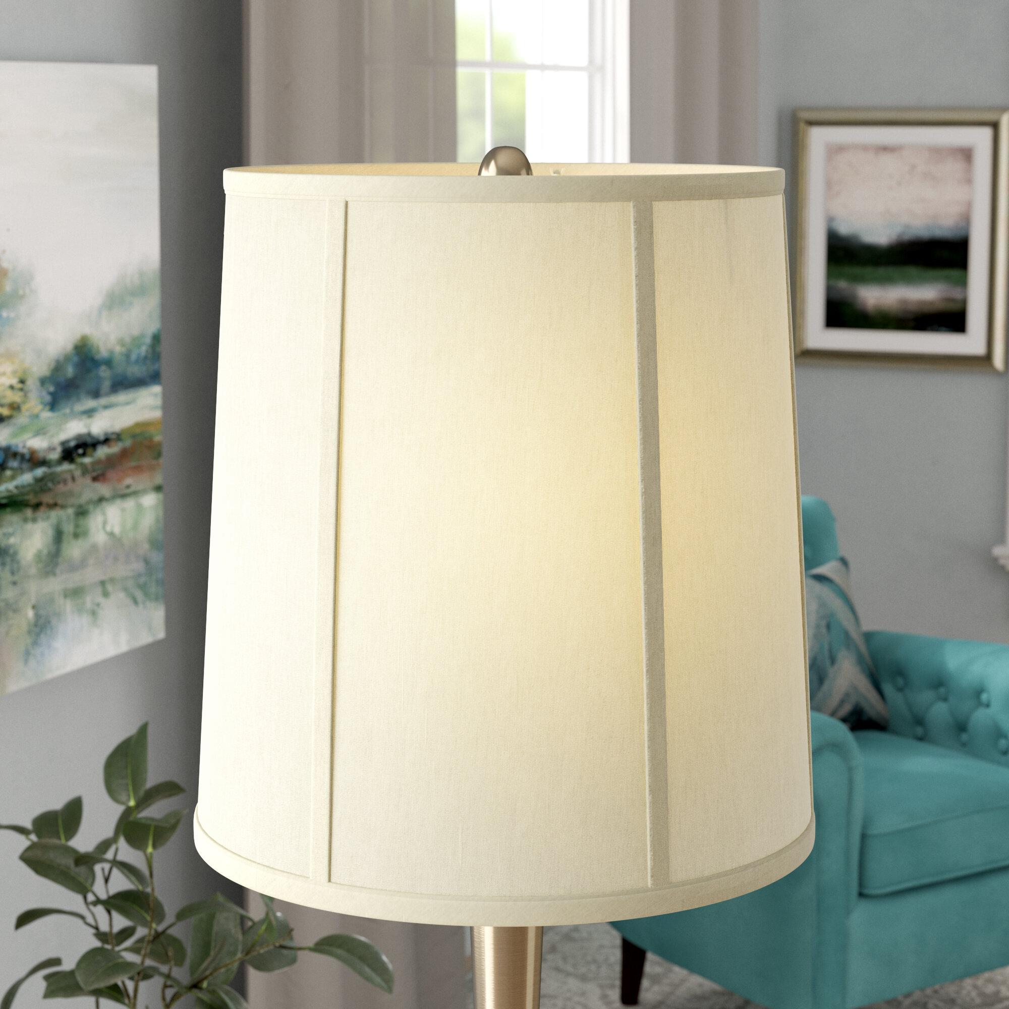 14 linen drum lamp shade reviews birch lane mozeypictures Images