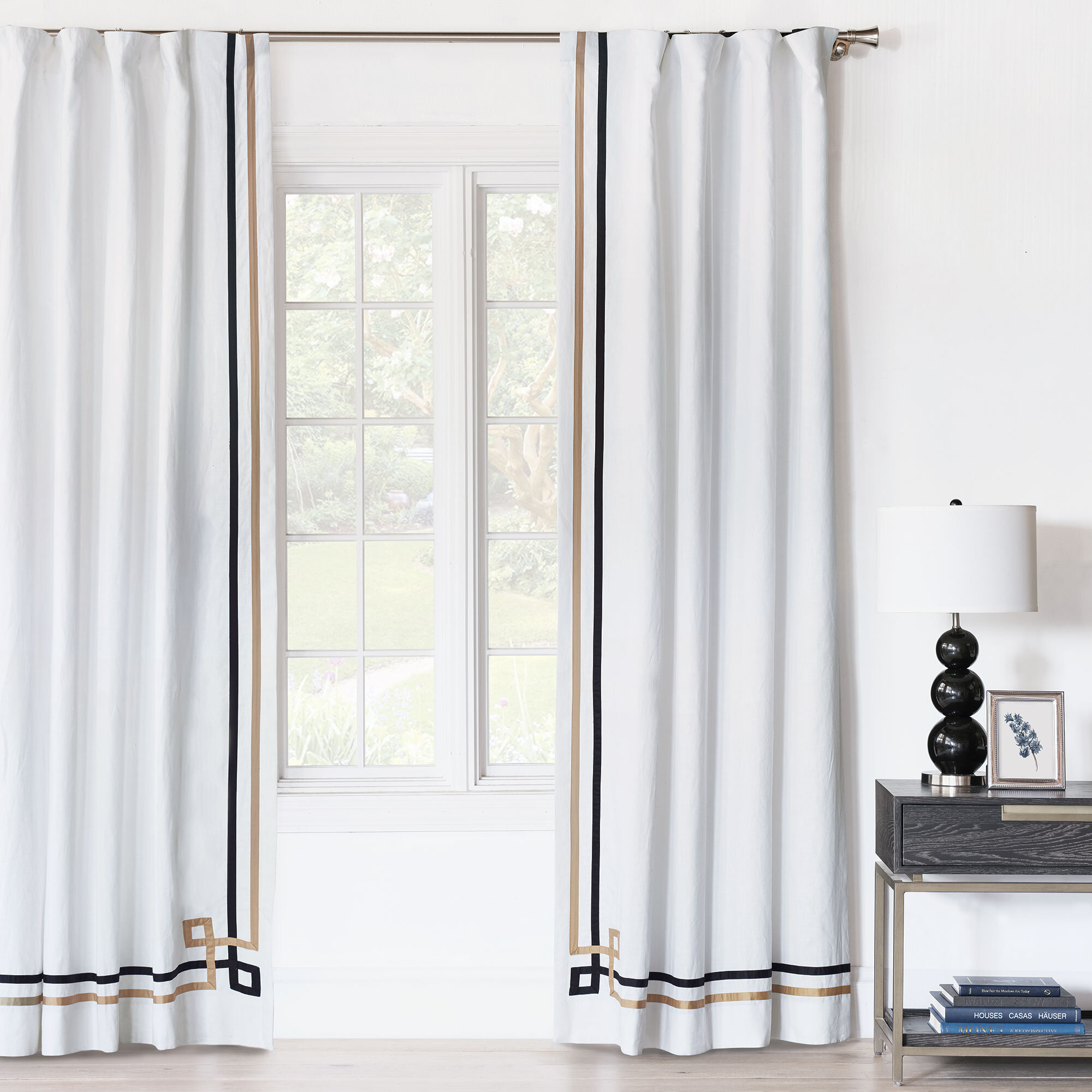 Eastern Accents Sloane Striped Room Darkening Rod Pocket Single Curtain Panel Perigold