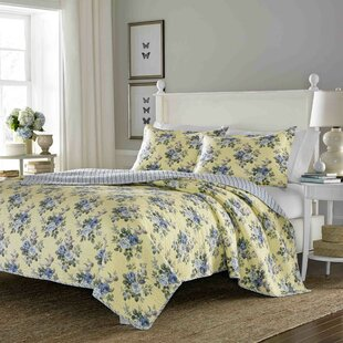 Linley 100% Cotton Reversible Quilt Set by Laura Ashley Home