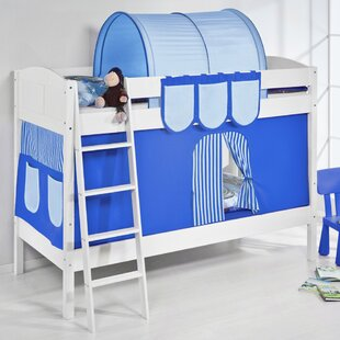 Ida European Single Bunk Bed with Bottom Bunk Curtain by Just Kids