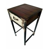 Seagle 1 - Drawer Metal Nightstand in Black/Brown by August Grove®