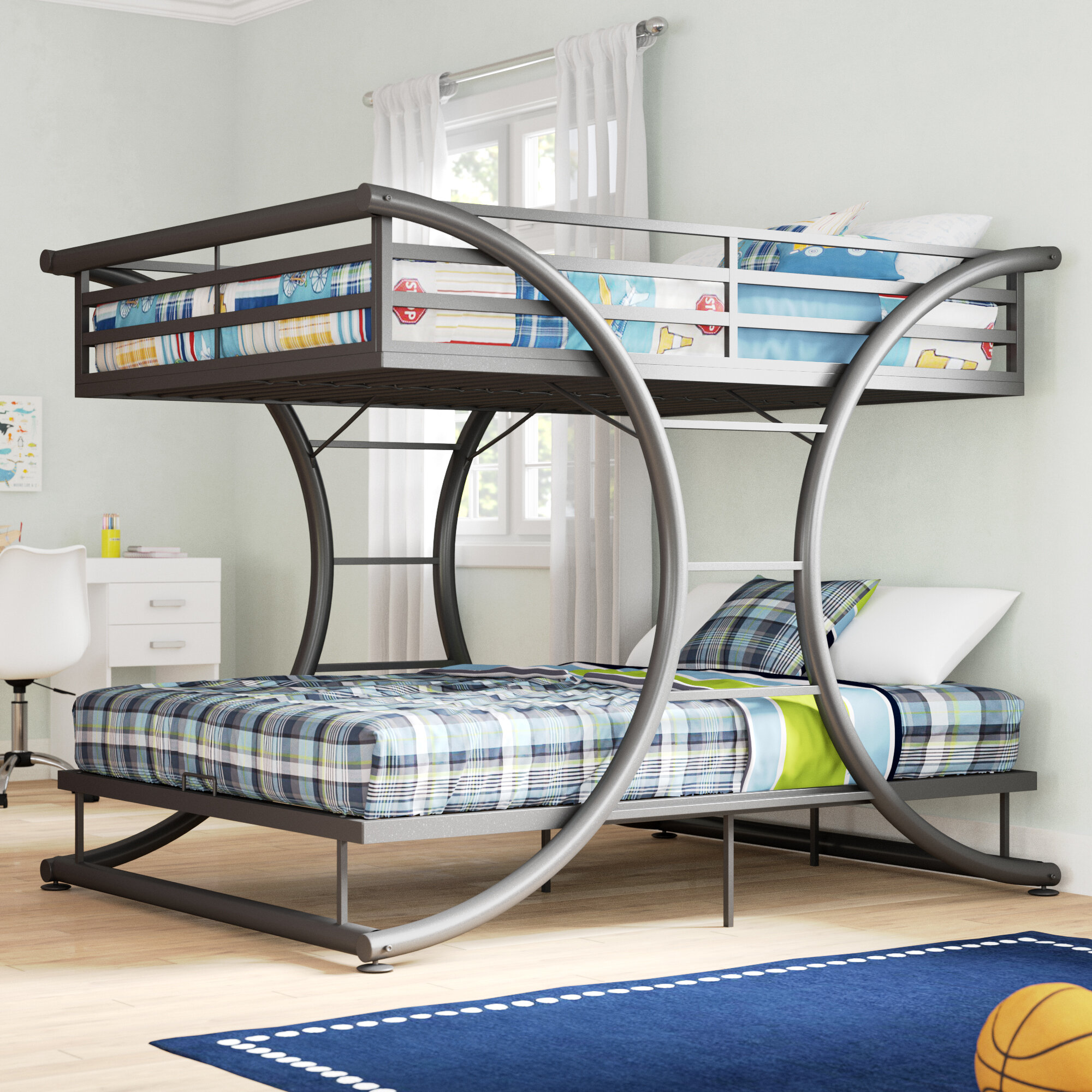 Picture of: Full Over Full Bunk Beds Wayfair