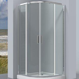Corrall 80cm W x 80cm D x 190cm H Quadrant Sliding Door Shower Enclosure by Belfry Bathroom