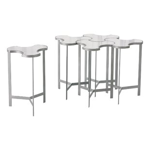 Link Bunching End Table with Marble Top