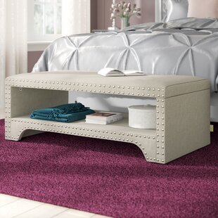 Clarke Wood Storage Bench by House of Hampton