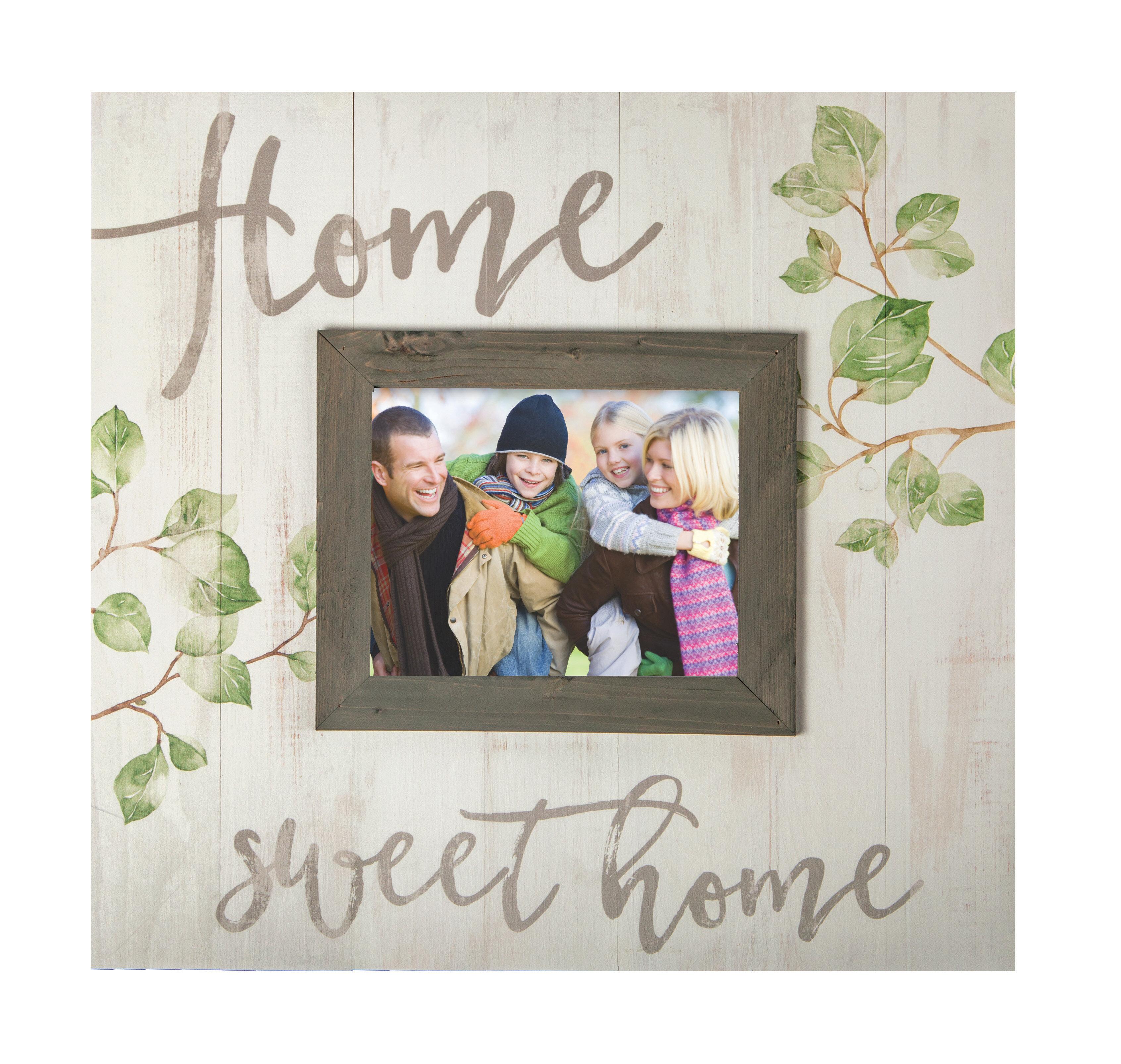 Gracie Oaks Elizabeth Home Sweet Home Picture Frame Wayfair