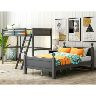 Baio Twin over Full L Bunk Bed with Shelves by Harriet Bee