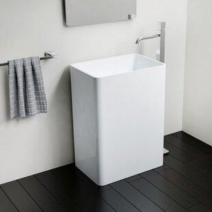 Purchase Polymarble 17 Pedestal Bathroom Sink By Badeloft