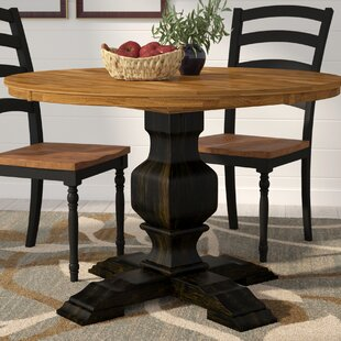 Fortville Solid Wood Dining Table Three Posts