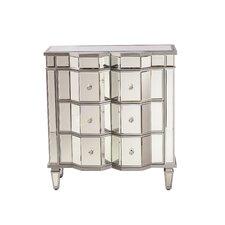 Esme Mirrored 3 Drawer Dresser by Design Tree Home
