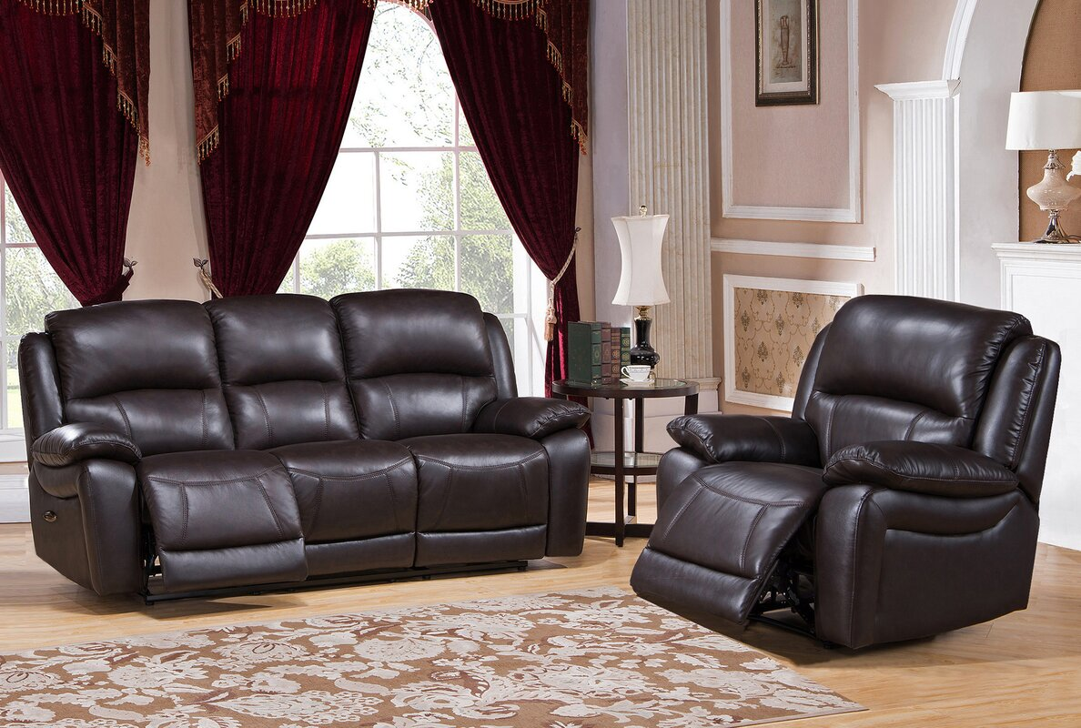 Hydelinebyamax kingston 2 piece leather living room set 2 piece leather living room set