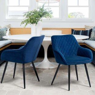 Himmelmann Tufted Velvet Upholstered Arm Chair Set of 2