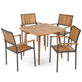Harty Outdoor 5 Piece Dining Set