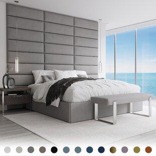 Bernardsville Upholstered Solid Wood Panel Headboard (Set of 10)