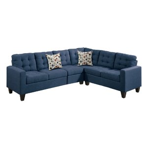 Prescot Modular Sectional  sc 1 st  Wayfair : navy sectional - Sectionals, Sofas & Couches