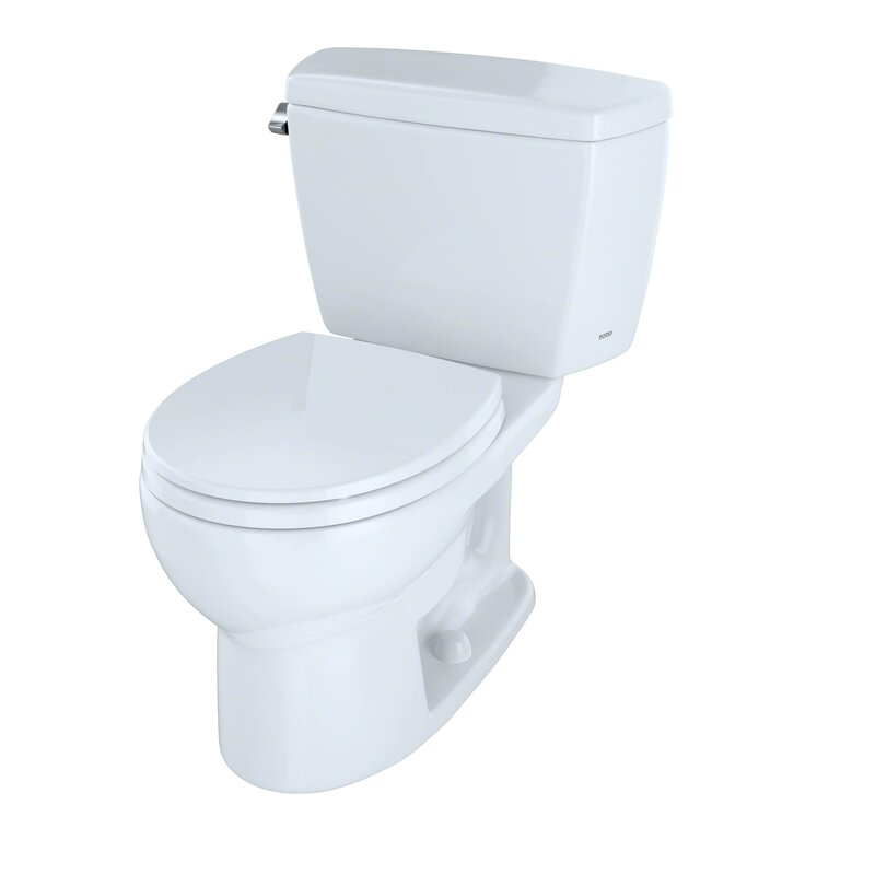 Toto Drake 16 Gpf Round Two Piece Toilet Seat Not Included
