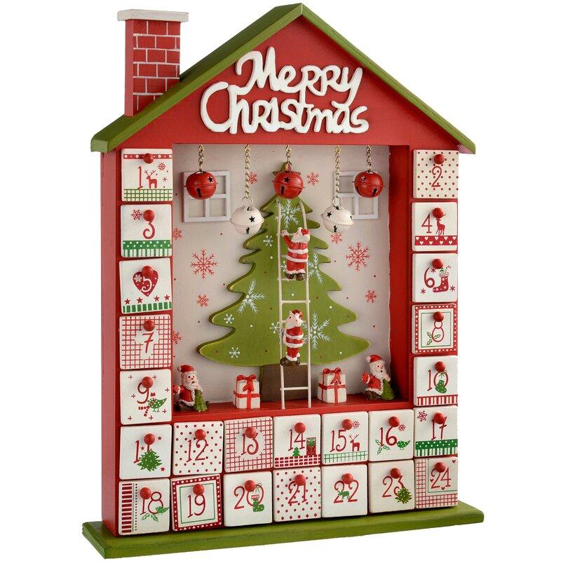 House Wooden Advent Calendar