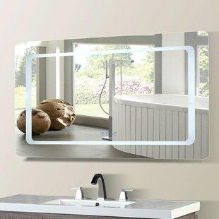 Buy luxury Casperson LED Bordered Illuminated with Bluetooth Speakers Bathroom/Vanity Mirror ByOrren Ellis