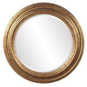 Round Country Gold Accent Mirror