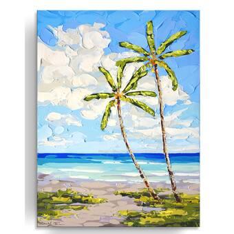 Trademark Art Thistles On The Beach By Michelle Calkins Framed Painting Print Wayfair