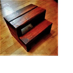 Rikard 2 Step Wood Step Stool