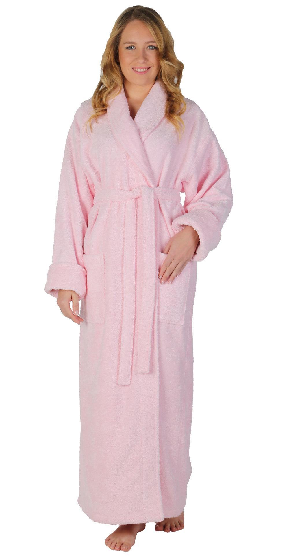 Winston Porter Laurens Women s Optimal Shawl Collar 100% Cotton Terry Cloth  Bathrobe  530b69014