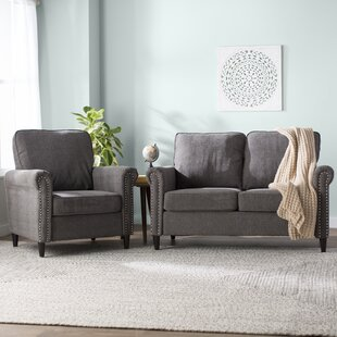 Inexpensive Hayton Fabric Modern 2 Piece Living Room Set by Charlton Home Reviews (2019) & Buyer's Guide