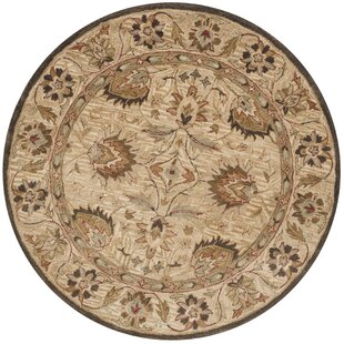 Ashville Hand-Tufted Wool Beige Area Rug by Three Posts