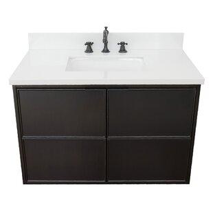 Elmhurst 37 Wall-Mounted Single Bathroom Vanity Set by Gracie Oaks