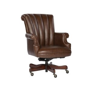 Adilynn Genuine Leather Executive Chair by DarHome Co Comparison