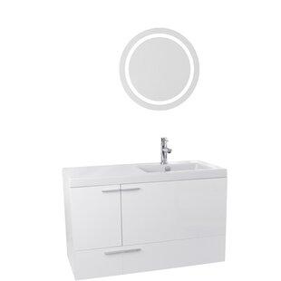 New Space 39 Single Bathroom Vanity Set with Mirror by Nameeks Vanities