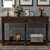 Geist 58 Solid Wood Console Table by Rosalind Wheeler